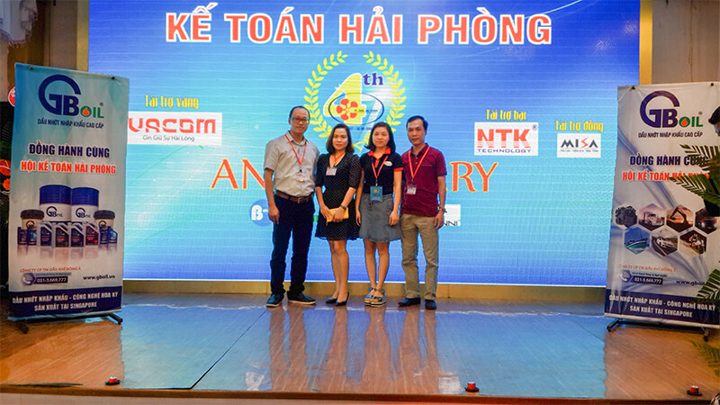 GB OIL Việt Nam tài trợ cho Hội kế toán Hải Phòng