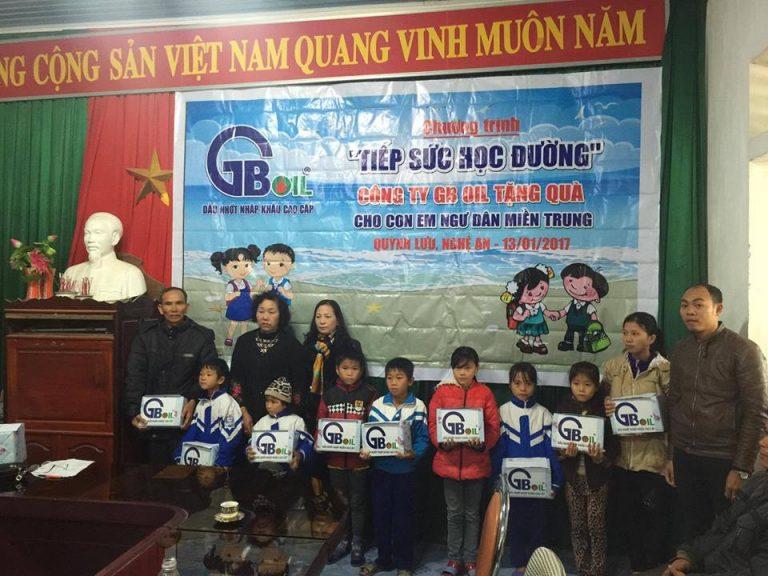 """GB OIL Tiếp sức học đường tại """" Quỳnh Lưu – Nghệ An"""""""