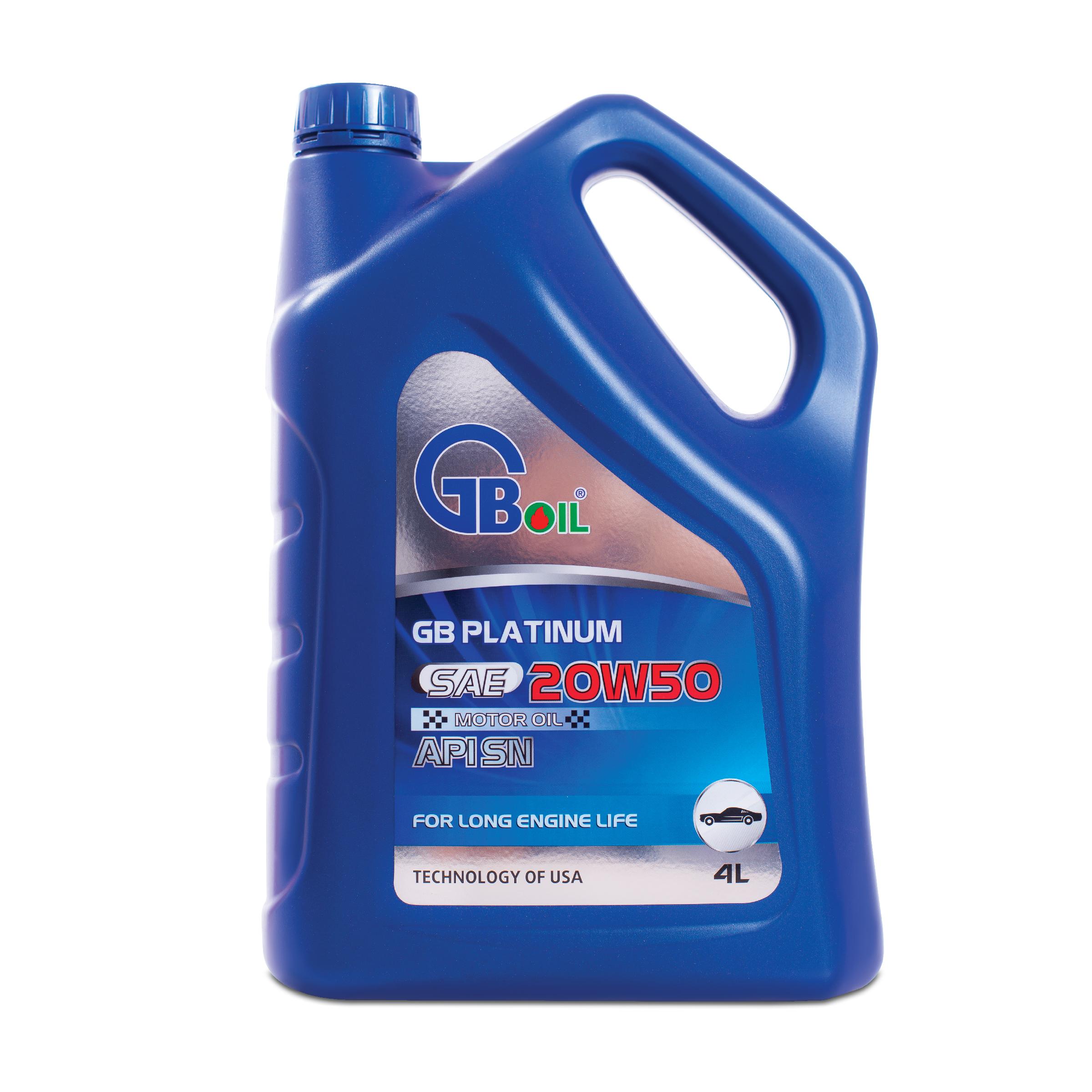 GB Platinum Motor Oil SAE 20W50, API SN