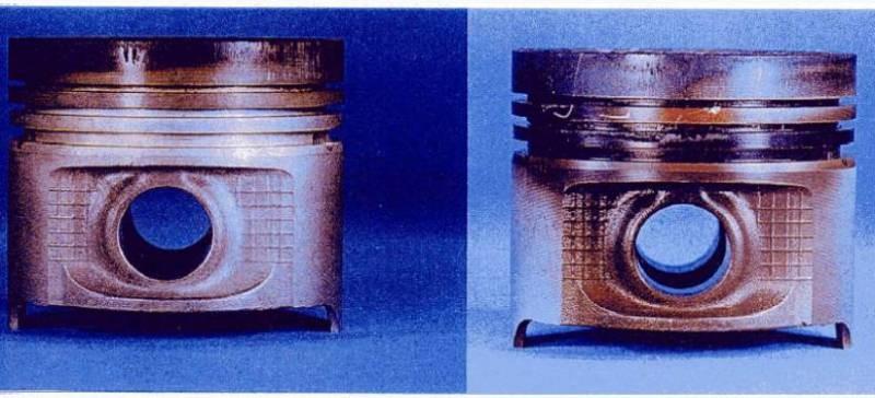 Sự bám bẩn piston khi sử dụng dầu chất lượng tốt và không tốt